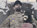 Український військовий зіграв на шотландській волинці «Ленту за лентою»