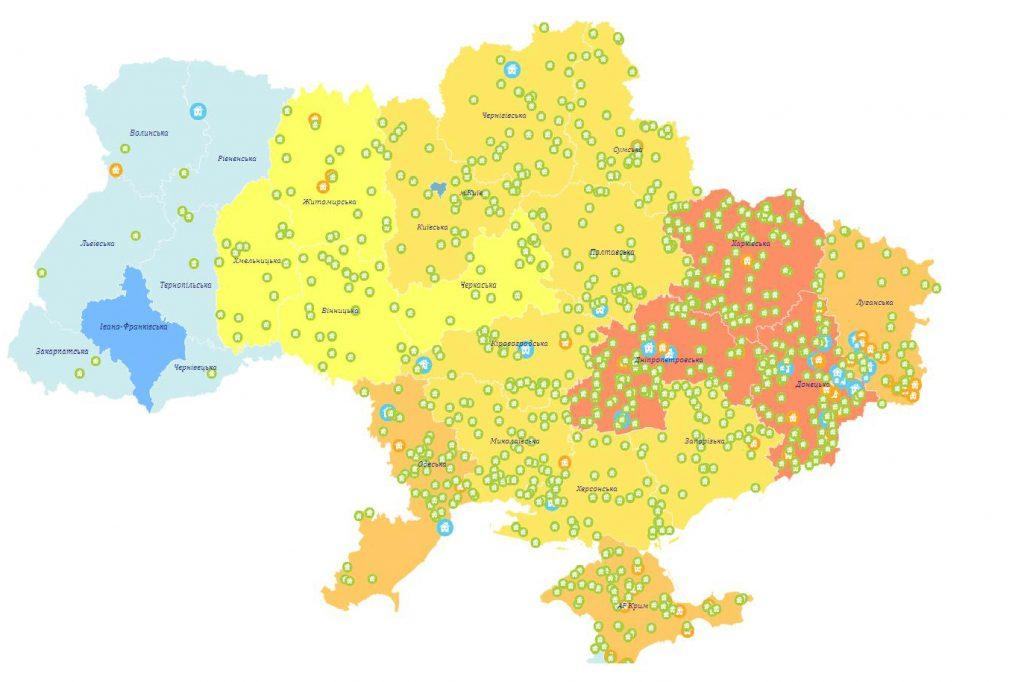Створено інтерактивну карту міст і сіл, які перейменують