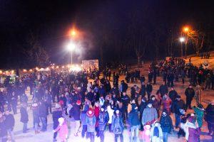 Першу Новорічну вечірку у Парку культури відвідали близько 5 тисяч людей