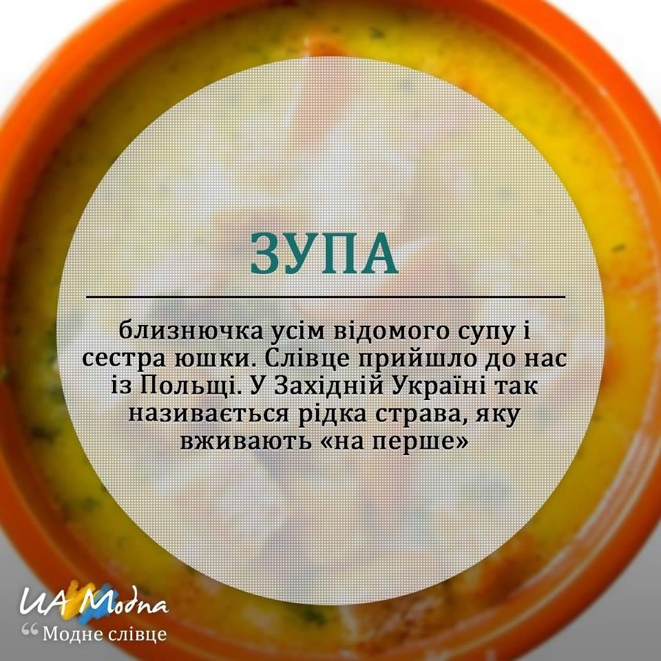 Словник галицької кухні зупа