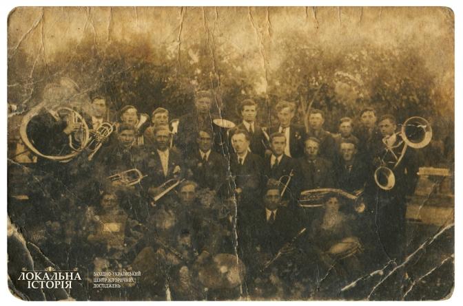 Духовий оркестр, м. Глиняни Перемишлянського п-ту Тернопільського в-ва, 1927 р