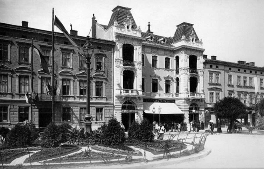 Парадний вигляд вул. Академічної (пр. Шевченка). Фото 1894-1914 року