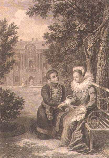 Лжедмитрій I та Марина Мнішек поруч замку в Мурованому.