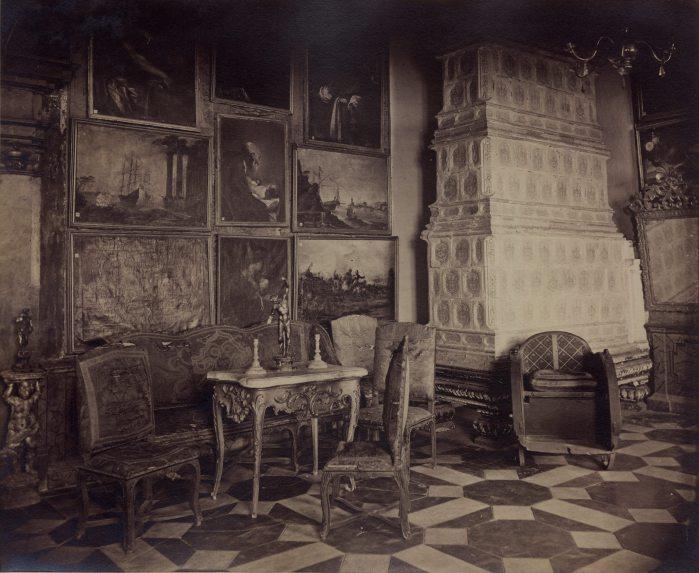 Багряна зала в Підгорецькому замку. Фото 1880 року