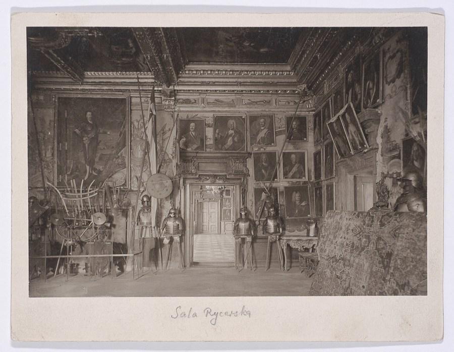 Інтер'єр Столової зали Підгорецького замку. Фото 1912 року