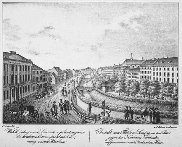 Так виглядав пр. Свободи у 18 ст. коли по ньому текла р. Полтва. © NAC