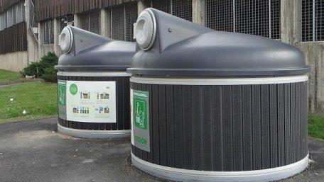 Один з видів закритих контейнерів для сміття (приклад)