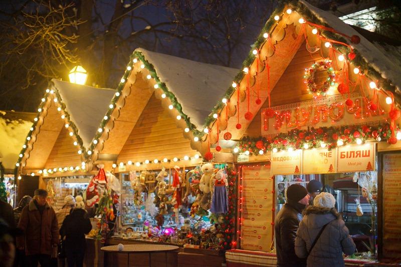 Christmas market in Lviv