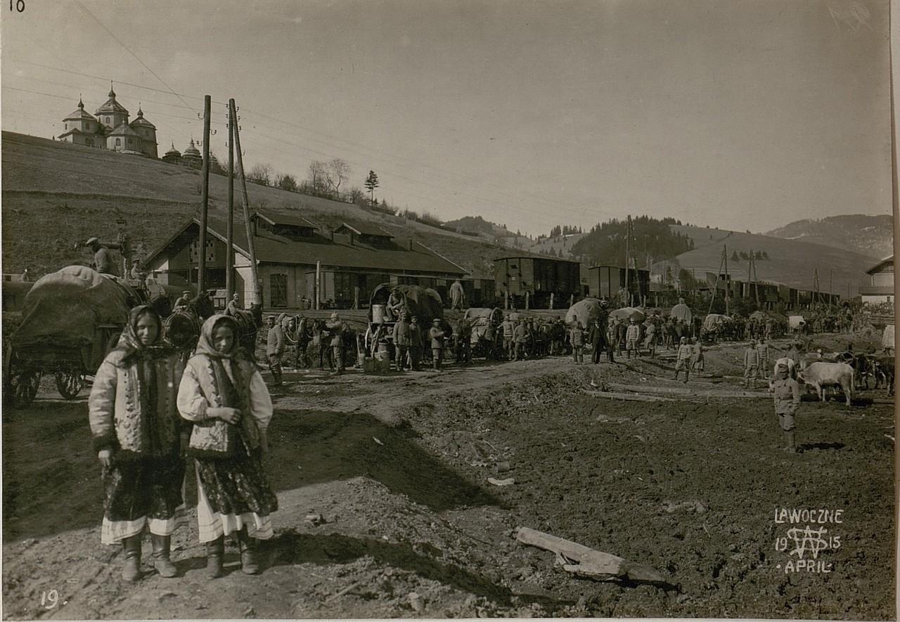 Німці в Лавочному. Галичина, початок 20 століття.
