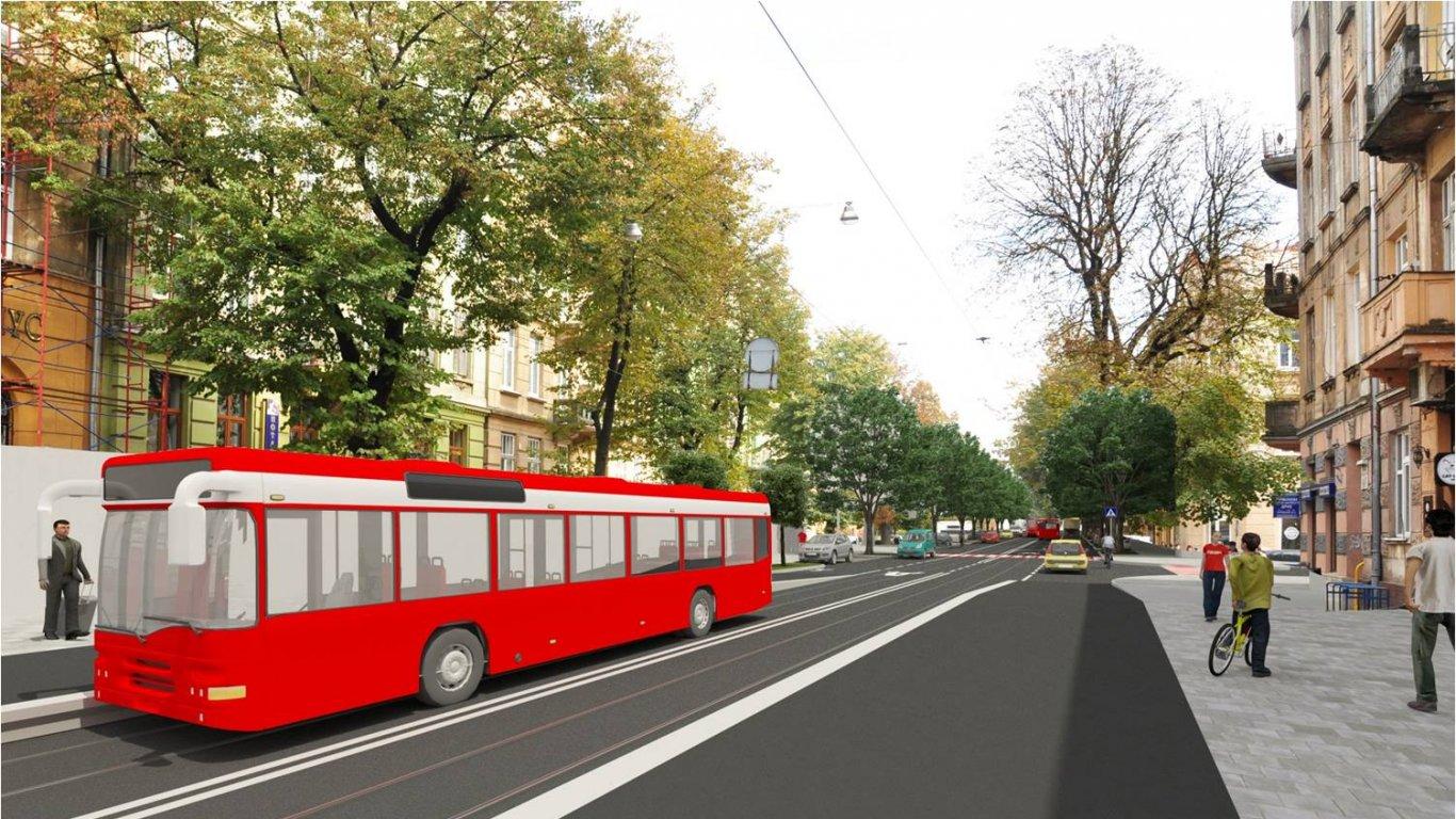 Варіант №2: припідняті автомобільні смуги на зупинках громадського транспорту