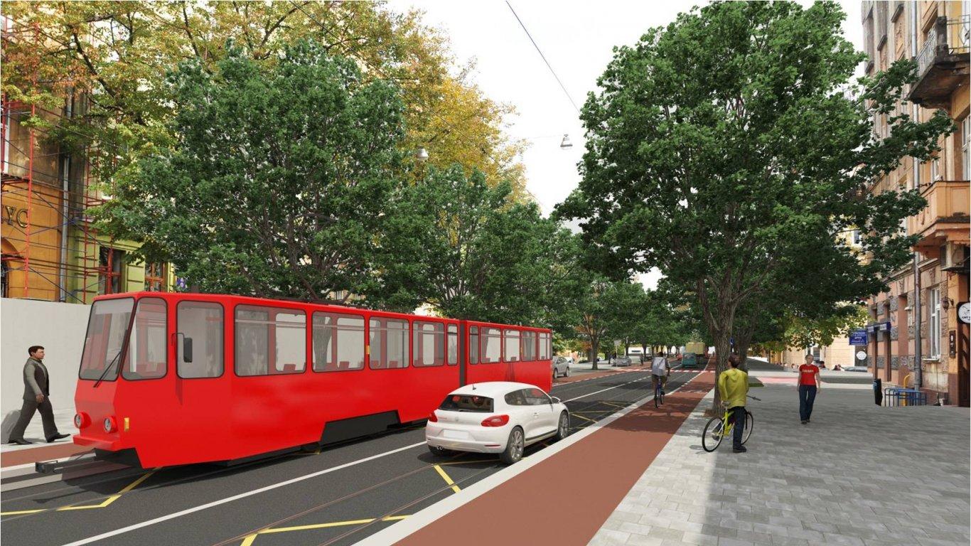 Варіант №1: припідняті велосмуги на зупинках громадського транспррту