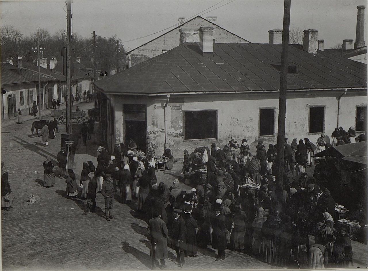 Ринок в Бродах, Галичина, початок 20 століття.