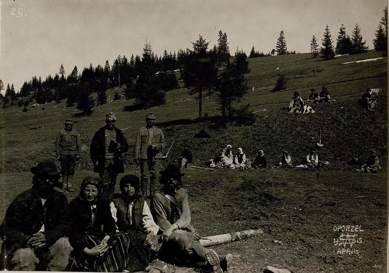 Селяни в Опорець, Галичина, початок 20 століття.