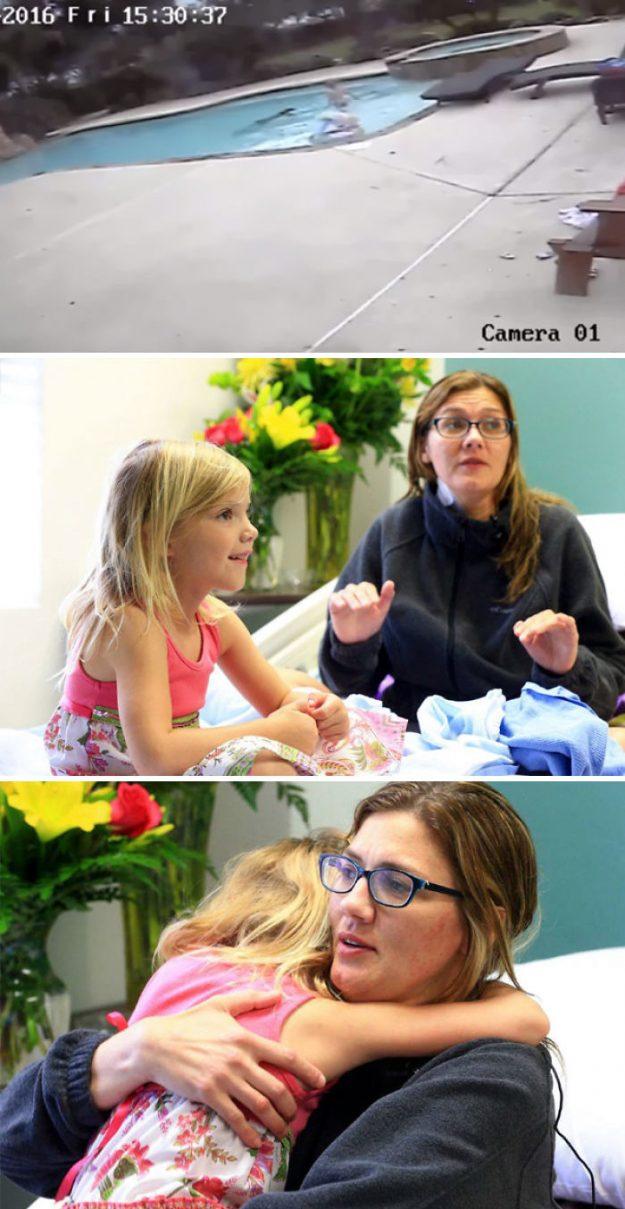 5-річна дівчинка зуміла врятувати свою маму, коли у тій почався припадок в басейні