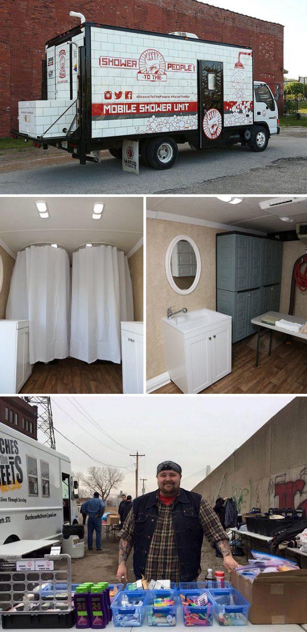 Душ на колесах - це безкоштовна послуга для бездомних від Деріка Бродера