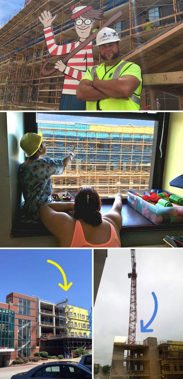 Навпаки дитячої лікарні в Індіані розташовується будівництво і Джейсон Хейні щодня ховає серед лісів фігури мультяшних персонажів, щоб створити розвага для дітей