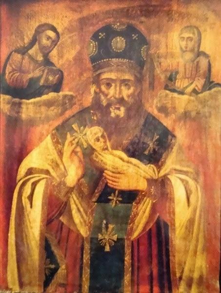 Нікола Мокрий, ікона у храмі Святої Софії, Київ