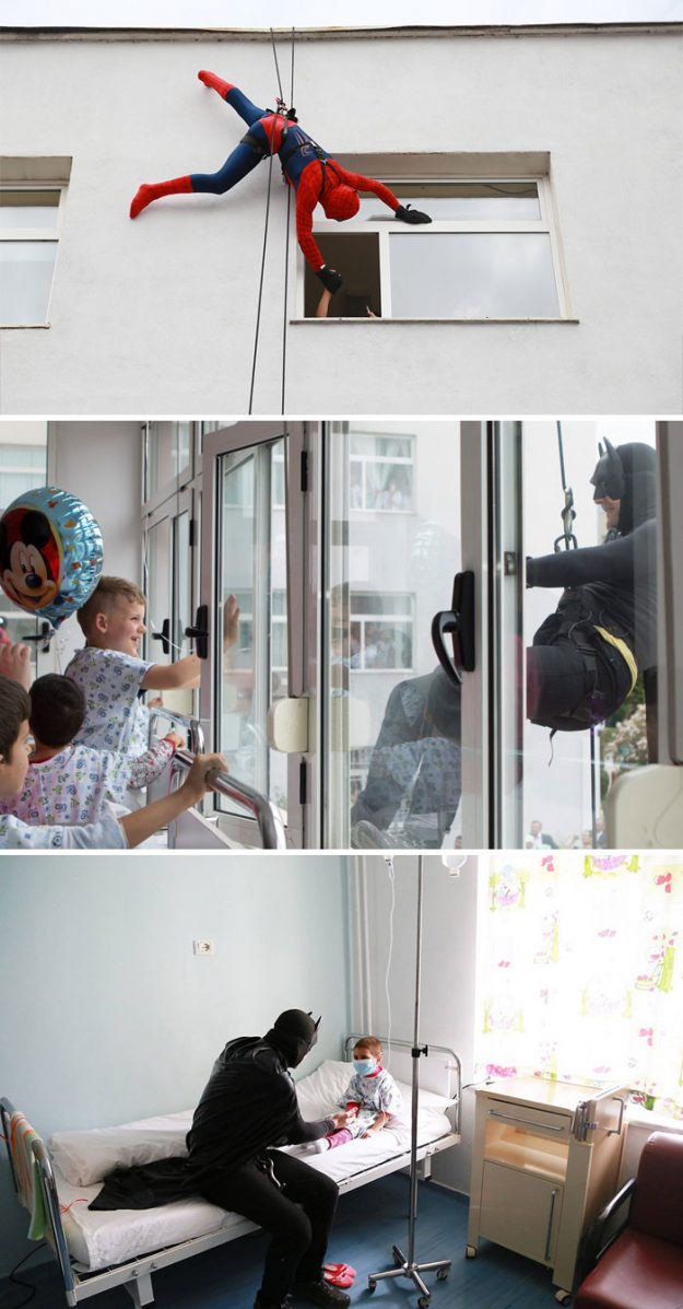 В Албанії поліцейські перевдягаються в супергероїв, щоб порадувати дітей в лікарні