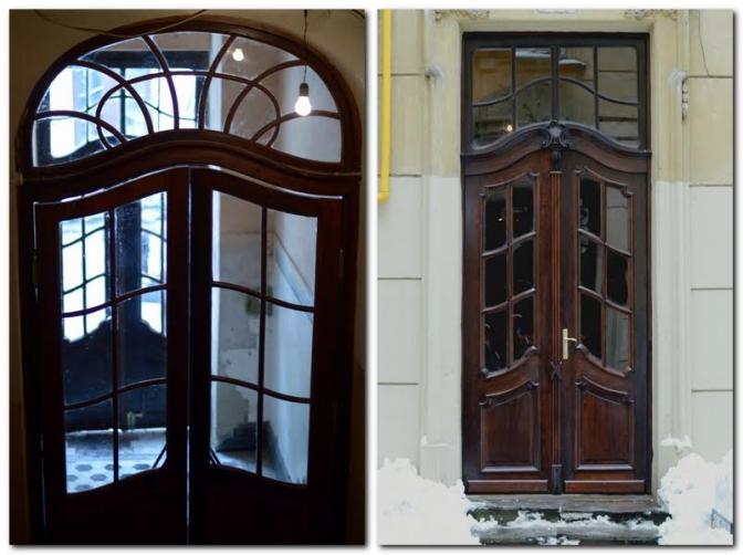 Внутрішня і зовнішня брами будинку на вулиці Дорошенка, 19