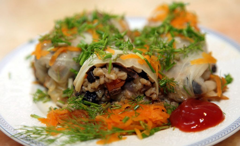 Голубці з рисом і грибами
