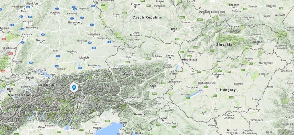 карта Австрії з googlemaps