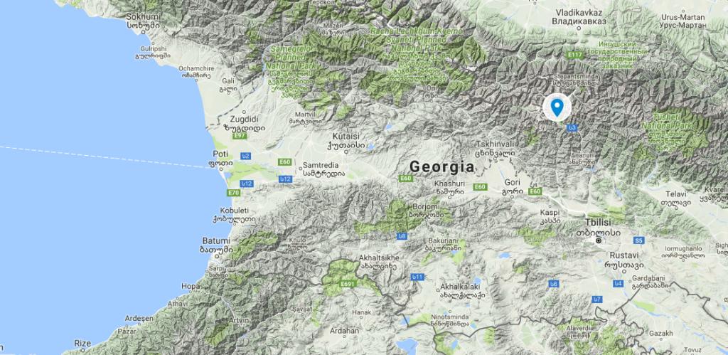 карта Грузії з googlemaps