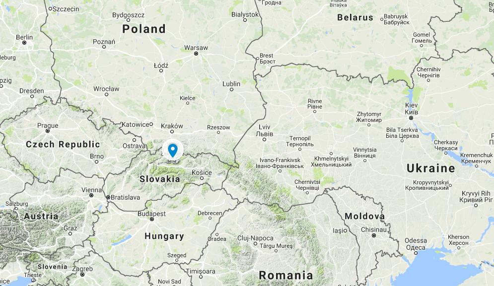карта Польщі з googlemaps