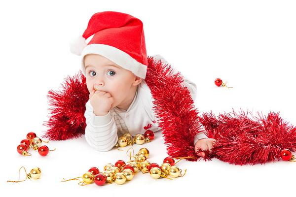 маленька дитина малюк маля новий рік
