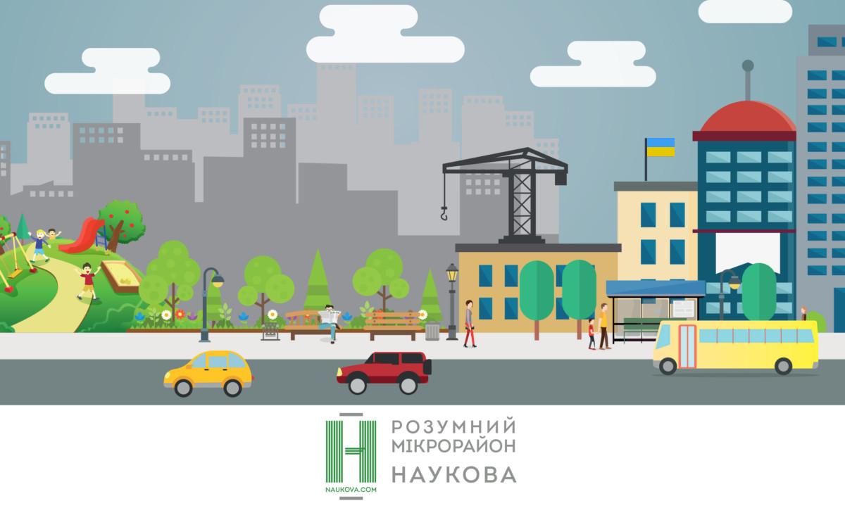 перетворення мікрорайону вул. Наукова – Володимира Великого на «розумний район»