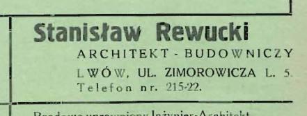 архітектор та інженер Станіслав Ревуцький (Stanislaw Rewucki)