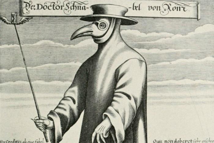 Чумний лікар. Фрагмент гравюри Поля Фюрста 1656 року