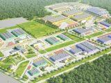 Поблизу Львова буде індустріальний парк із логістичним центром. Візуалізація