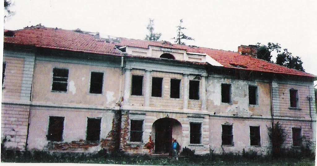 Палац Лянцкоронських в Комарно станом на 1992 рік