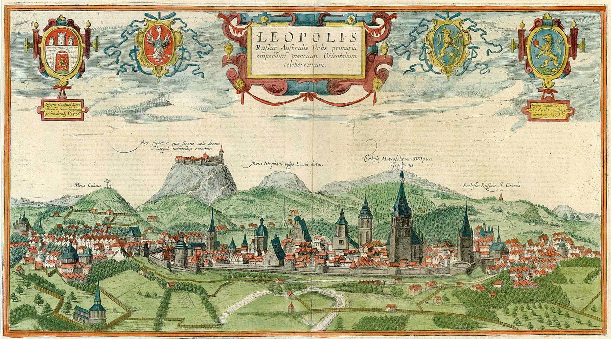 Панорама Львова 1618 року