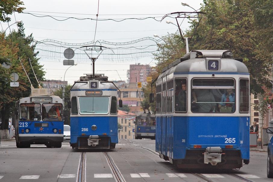Швейцарські трамваї у Вінниці. Фото: vinnitsa.info