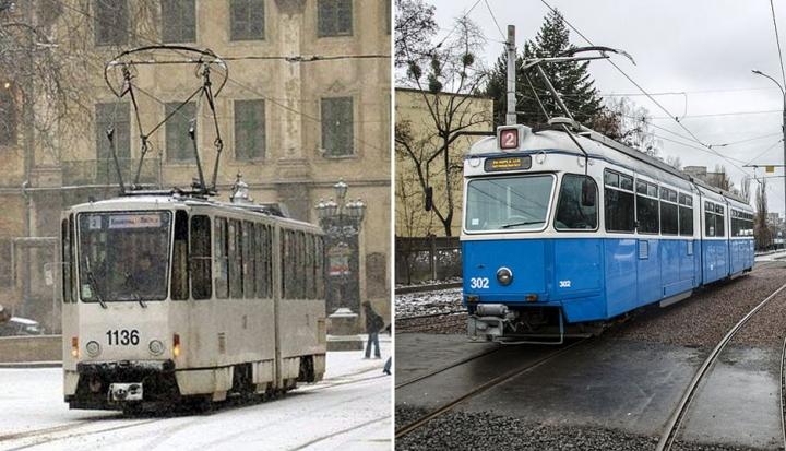 Трамвай у Львові та Вінниці. Фото: comments.ua/urban.vn.ua