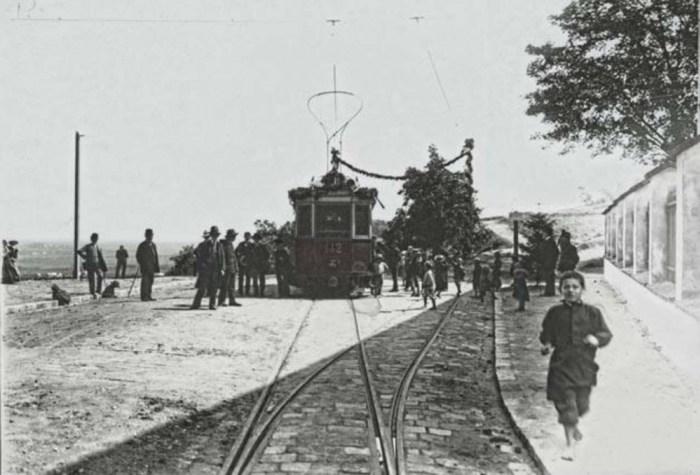 Трамвайний маршрут на Високий Замок. Фото 1912 року
