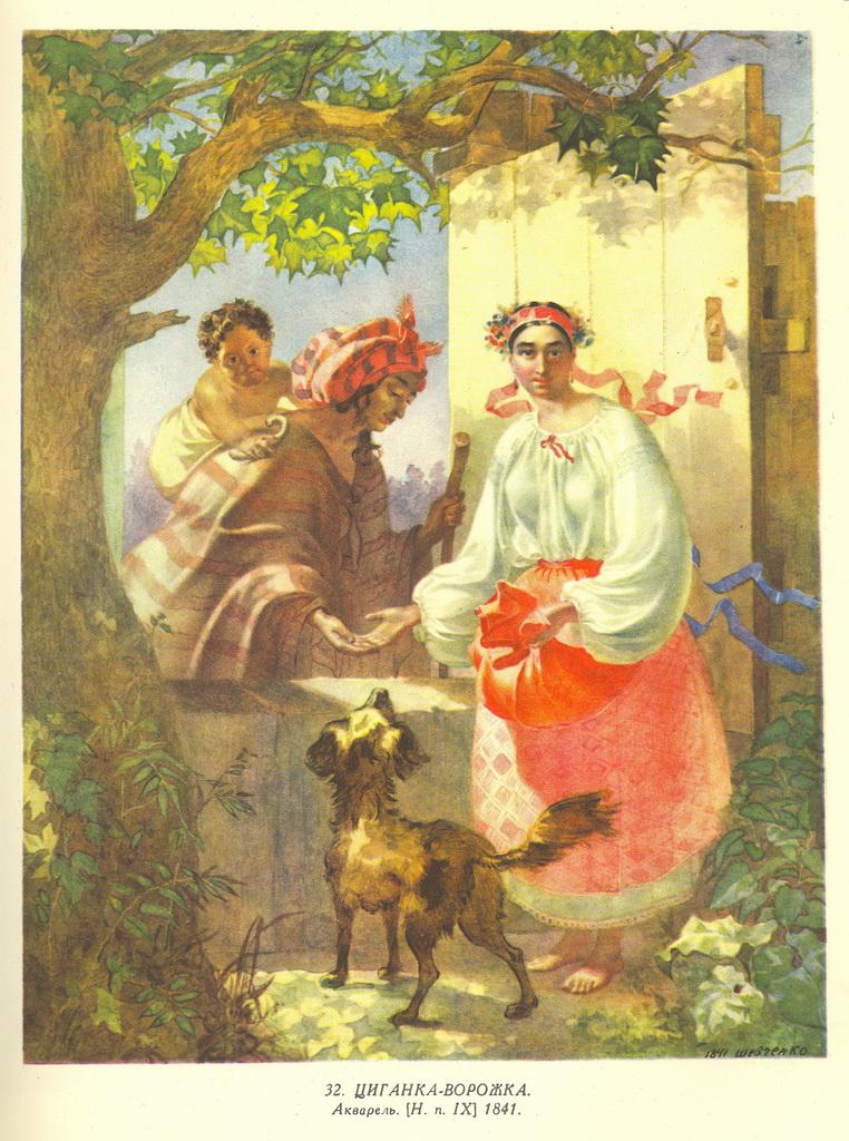 Циганка-Ворожка. Малюнок Т.Г.Шевченка © WIKI