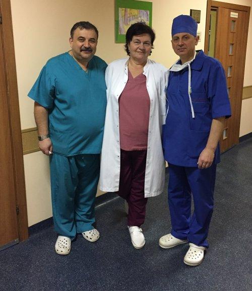 Львівські хірурги Ігор Гримак, Олександра Бурда і Андрій Поцюрко