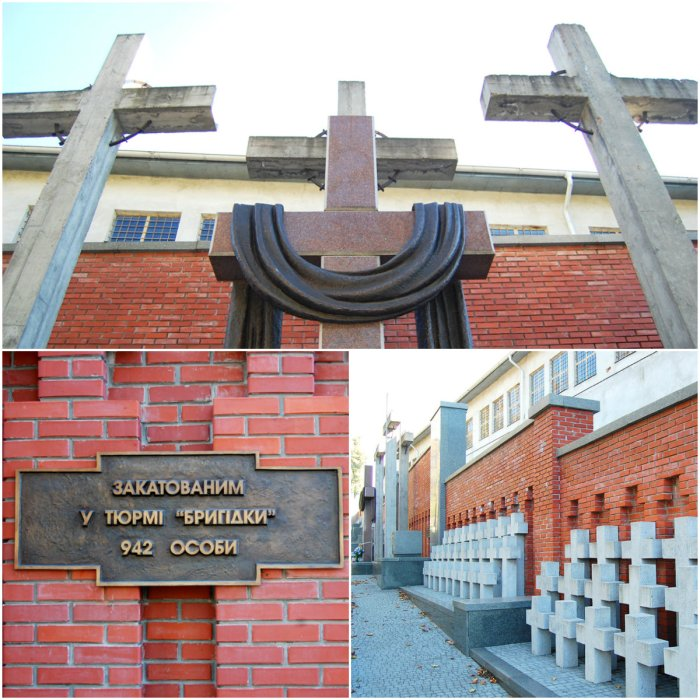 """На Янівському цвинтарі біля поля № 55 є братська могила – невідомих жертв тюрми """"Бригідки""""."""
