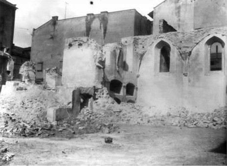 """Синагога """"Золота Роза"""" (синагога Нахмановича, синагога """"Турей Загав"""") 1941. Фото Я. Вітвіцького"""