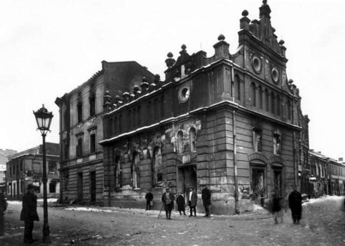 Синагога Хасидим Шуль Фото після погрому 1918 року
