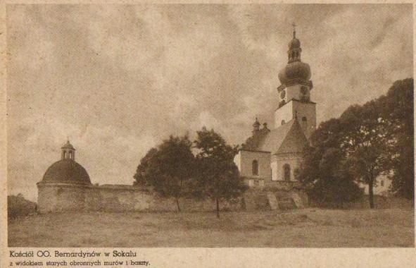 старе фото ренесансний монастир бернардинів із костелом Діви Марії