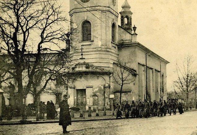 Церква Св. Анни у Львові, фото 1914-1915 років