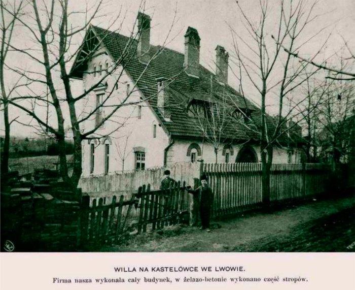 Вілла Людвіка Вєжбіцького, фотографія з каталогу будівельного бюро Сосновського і Захаревича,1905 рік