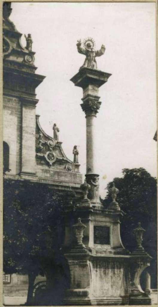 Колона св. Яна з Дуклі. Фото 1912 року