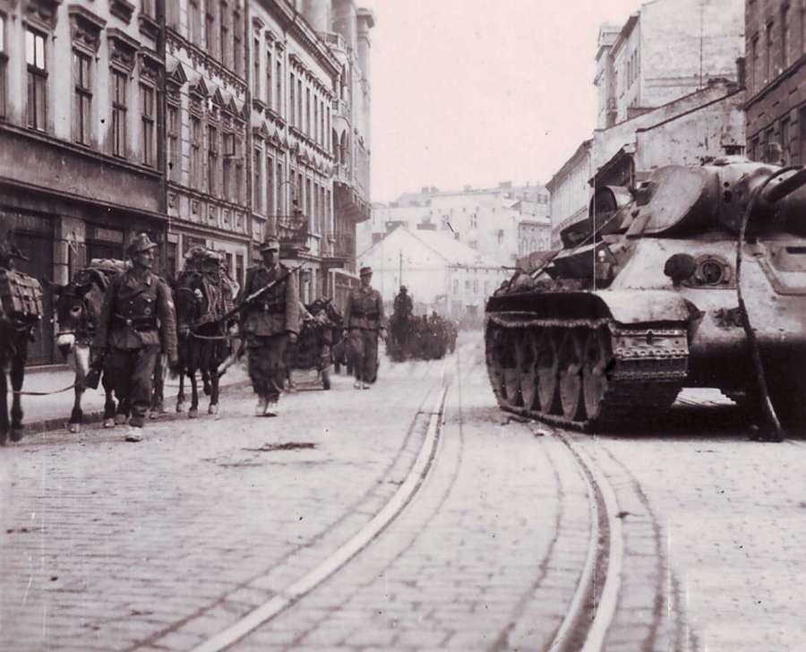 Німецькі частини на марші по вул. Городоцькій