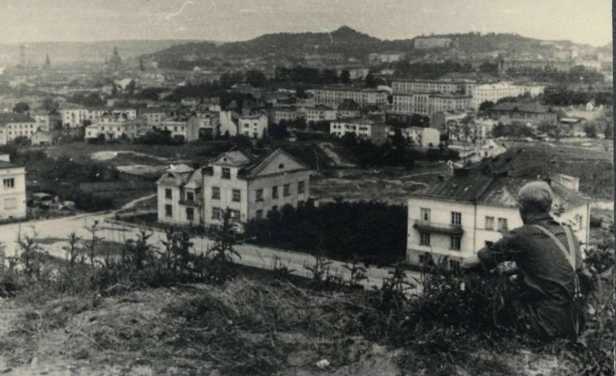 Панорама на місто з р – ну вул. Зеленої, 30 червня 1941 року