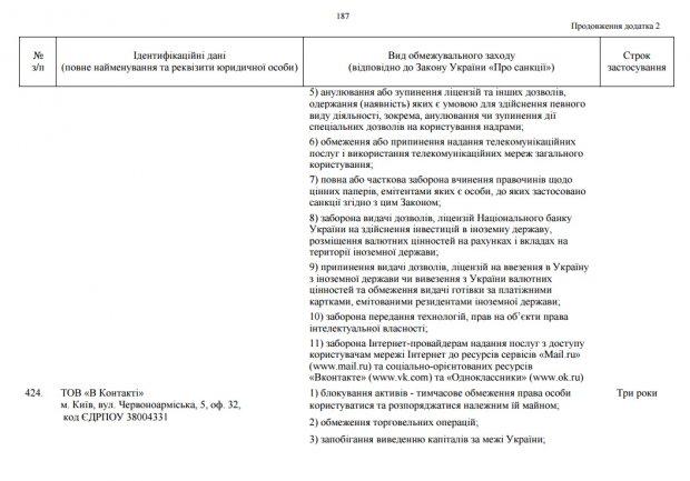 """Порошенко підписав указ про блокування """"Вконтакте"""" та """"Однокласники"""" на території України"""