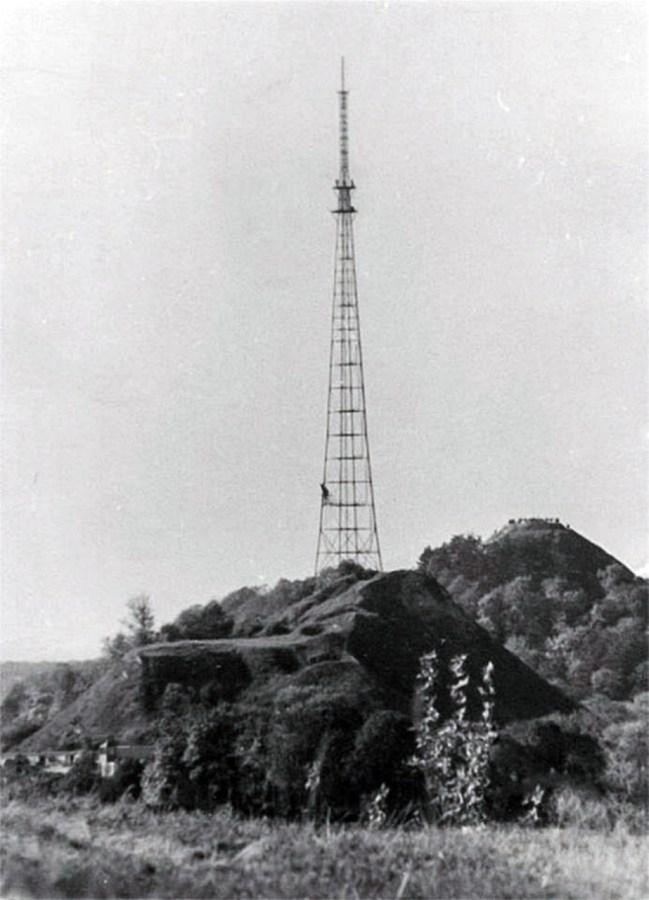 Телевежа на Високому Замку невдовзі після свого спорудження. Фото 1957-1960 рр.